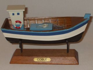 Model Fishing Boat The Coble Approx 3 5 x 8 0 inches Long