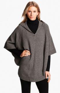 Eileen Fisher Yak & Wool Hooded Poncho