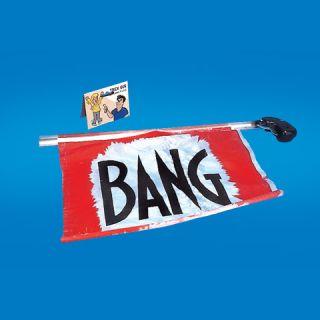 Large Bang Gun Flag Comedy Trick Toy Joke Stage Prop