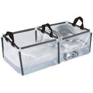 Coleman PVC Double Wash Basin Porable Sink Camping Gear Collapsible