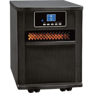 Comfort Zone Infrared Quartz Heater 5120 BTU 1500 Watts Black 125091