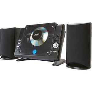 Coby Desktop Bookshelf CD Am FM Radio Stereo System Remote Control Big