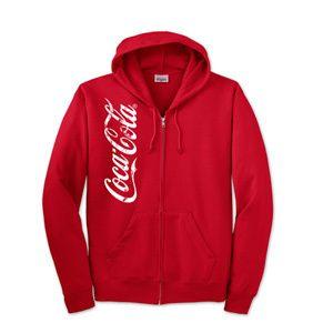 Coca Cola Coke Mens Full Zip sweat Shirt 2XL Newww