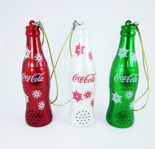 Coca Cola Coke Aluminium Bottles Bells Japan Gift Set Collection Red