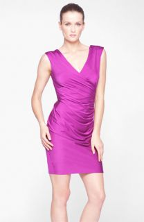 Marc New York by Andrew Marc Exposed Zip Ruched Jersey Sheath Dress