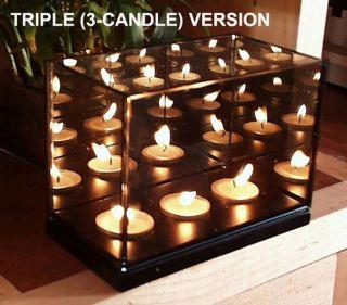 Magic Mirror Illusion Box Triple Candle Infinity Light