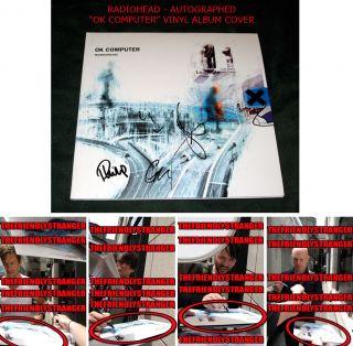 RADIOHEAD signed OK COMPUTER VINYL ALBUM COVER LP   EXACT PROOF   No