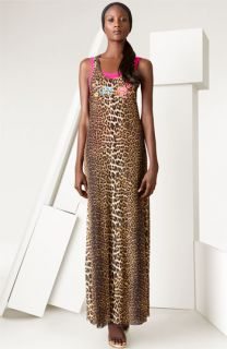 Jean Paul Gaultier Embroidered Leopard Print Dress