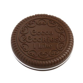 Cute Chocolate Cocoa Cookie Shaped Design Portable Compact Mirror