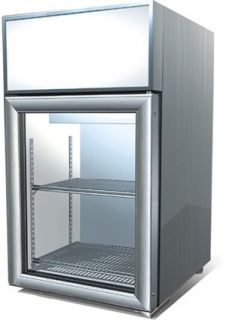 Mini Countertop Beverage Display Cooler, Reach In Glass Door Fridge