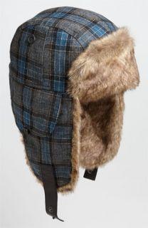 Ted Baker London Plaid Faux Fur Trapper Hat