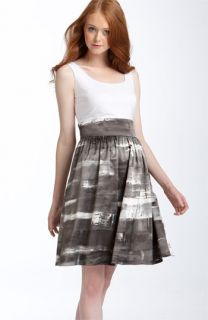 Adrianna Papell Mock Two Piece Dress