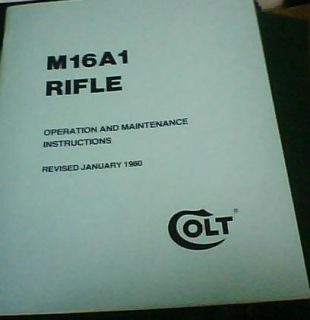 AR15 Rifle Operation & Maintenance Gun Manual   COLT M16A1 AR 15 BOOK