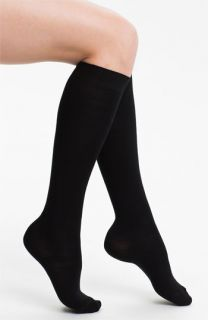 Flat Knit Wool Blend Knee High Socks