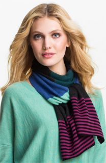 Eileen Fisher Stripe Merino Wool Scarf