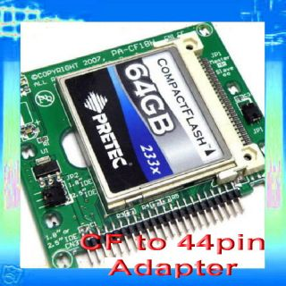 Compact Flash CF to 44 pin 2 5 or 1 8 IDE adapter for laptop notebook