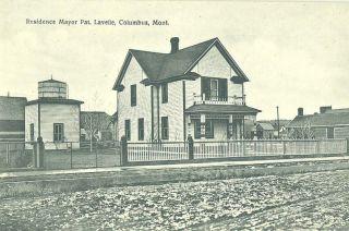 MONTANA Columbus Mayors Residence c 1910 POSTCARD