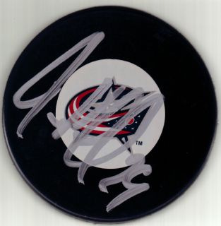 Jason Williams Signed Columbus Blue Jackets Puck w COA