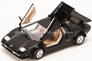 Countach Black Diecast Model Car 1 24 Scale Motor Max Collectible