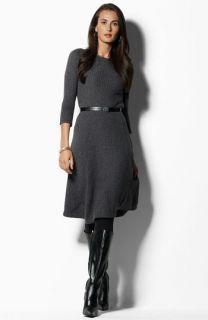 Lauren by Ralph Lauren Belted Sweater Dress