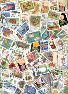 Flora Fauna Animals Lot of 100 Collectible Stamps