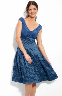 Adrianna Papell Matte Jersey & Taffeta Dress