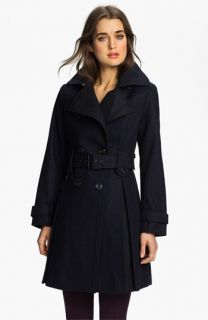 Laundry by Shelli Segal Double Breasted Military Coat (Petite)