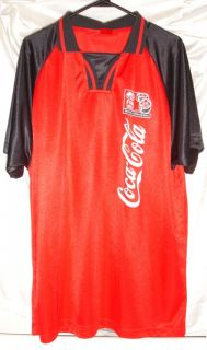 Coca Cola Red Soccer Jersey FIFA U 17 Mens XL Coke