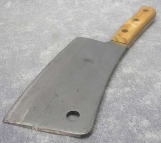 Vintage FOSTER BROS 2190 Meat Cleaver Chef Butcher Knife 15