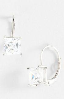 Princess 2ct Cubic Zirconia Drop Earrings