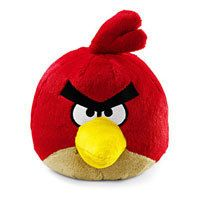 Red Bird 8 Plush with Sound Tag Rovio Commonwealth Toy New