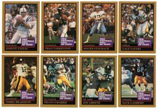 RARE 1991 Enor Gold Official Pro Football Hall of Fame Set 160 Cards