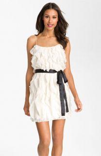 Aidan Mattox Spaghetti Strap Layered Chiffon Dress