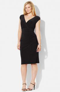Lauren Ralph Lauren Matte Jersey Dress (Plus)
