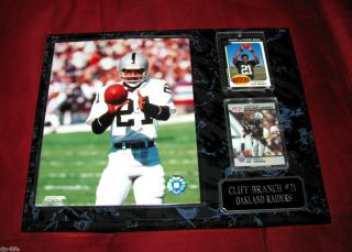 Oakland Raiders 21 Cliff Branch WR 12x15Custom Plaque Great Gift