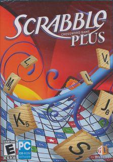 SCRABBLE PLUS Crossword Board Game for Windows XP/Vista PC   Brand New
