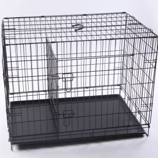 Neptune』42 2 Door Folding Pet Dog Metal Crate Cage Kennel with
