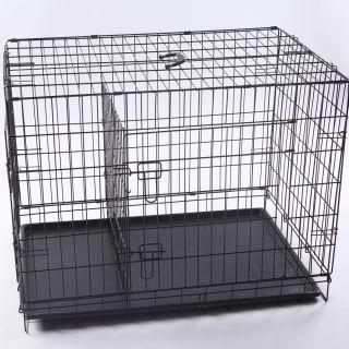 Neptune』42 2 Door Folding Pet Dog Metal Crate Cage Kennel with