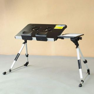 Portable Laptop Notebook Desk Stand Bed Table with Cooler Fans