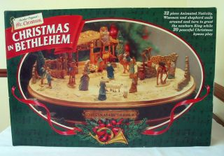 MR CHRISTMAS IN BETHLEHEM ANIMATED MUSICAL NATIVITY COMPLETE BOXED SET