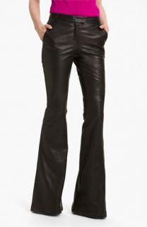 Rachel Zoe Hutton Flare Leg Leather Pants (Long)