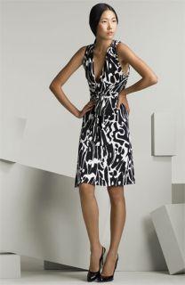 ISSA London Printed Wrap Dress