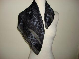 Elaine Gold Scarf Head Wrap Purple Black Animal Print