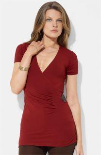 Lauren Ralph Lauren Faux Wrap Jersey Top