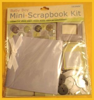 Colorbok Mini Scrapbook Kit Baby Boy Album Stickers