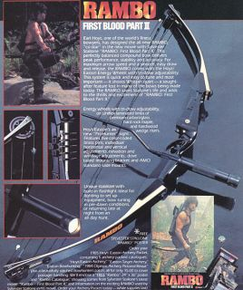 Rambo Hoyt Compound Bow with Arrows Quiver and Hard Case 1985 First