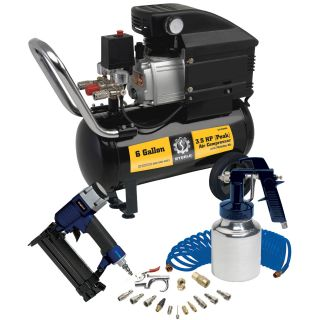 Steele Products CE 356MK 6 Gallon Air Compressor With Wheel Kit