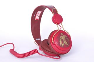 New Coloud Marvel Iron Man Red DJ Headphones Apple iPod iPhone