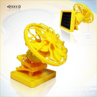 Clip on Solar Sun Power Energy Panel Cooling Cell Fan