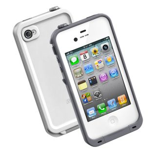 Gray Waterproof Shockproof PC Case Life Dirt Proof Cover for iPhone 4